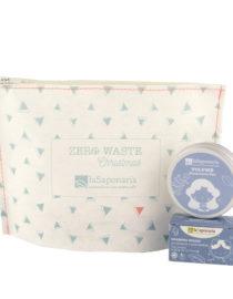 pochette zero waste capelli la saponaria purificante
