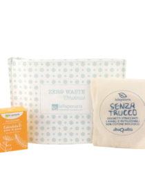 pochette zero waste detergenza viso la saponaria