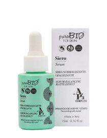 siero viso sebo normalizzante opacizzante purobio for skin