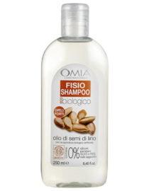 fisio shampoo con olio di semi di lino omia laboratoires