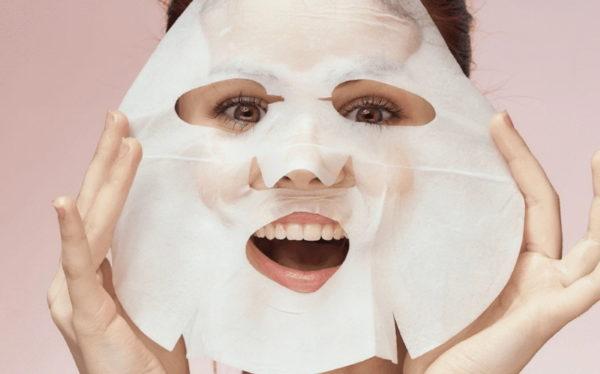 maschere viso in tessuto bio