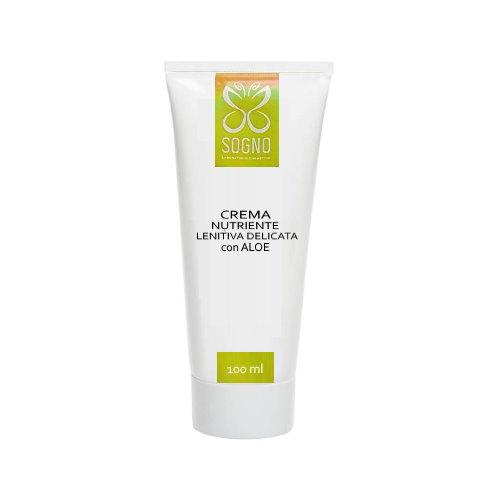 Crema nutriente lenitiva delicata con Aloe Vera