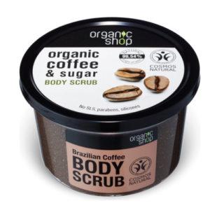 Scrub corpo al Caffé biologico e Zucchero