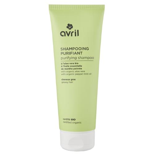 Shampoo purificante bio con Aloe e Menta Avril