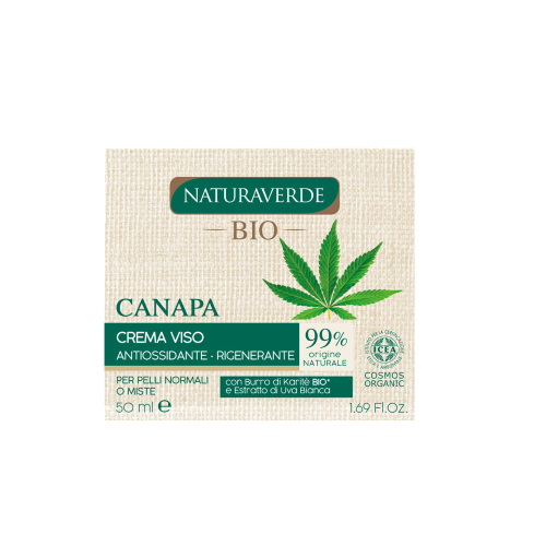 Crema viso Canapa antiossidante e rigenerante Naturaverde BIO