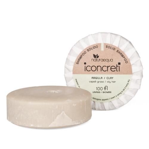 Shampoo solido capelli grassi all'Argilla iConcreti Naturaequa