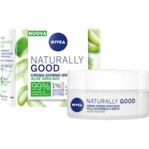 Crema giorno idratante Nivea Naturally Good pelli normali e miste