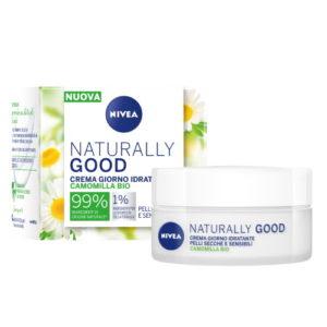 Crema giorno idratante Nivea Naturally Good pelli secche e sensibili