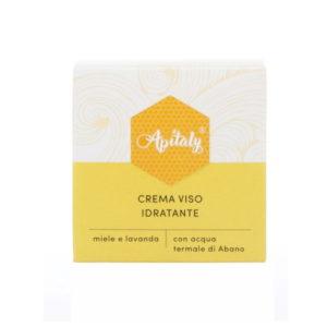 Crema viso idratante con acqua termale, miele e lavanda Apitaly