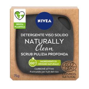 Detergente viso solido Nivea Naturally Clean – Scrub pulizia profonda