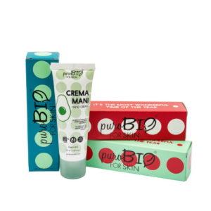 Crema mani PuroBio Cosmetics in confezione regalo